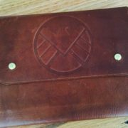 Leather Document Wallet - SHIELD